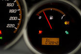 Black fuel gauge — Stock Photo