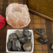 Small image of spa concept focused on stones — Stock Photo #9934596
