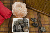 Small image of spa concept focused on stones — Stock Photo