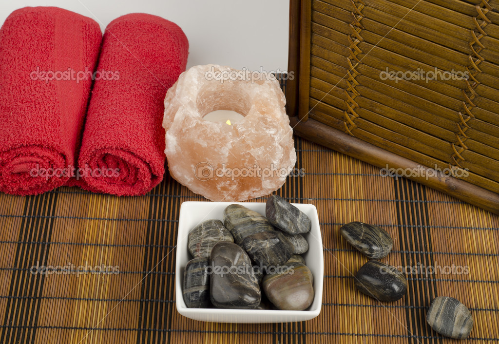 Image of spa concept with stones — Foto Stock #9934593
