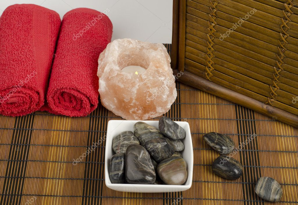 Image of spa concept with stones — Stok fotoğraf #9934593