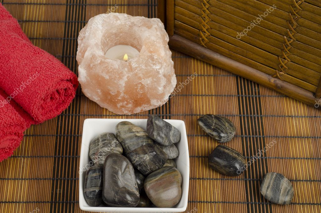 Image of spa concept focused on stones — Stock Photo #9934596