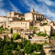 Stock Photo: Provence village Gordes scenic overlook