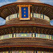 Forbidden city roof detail - Stock Photo