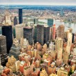 Stock Photo: New York skyscrapers bird view