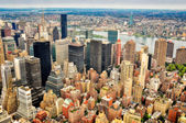 New York skyscrapers bird view — Stock Photo