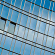 Stock Photo: Office building glass wall with windows