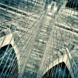 Royalty-Free Stock Photo: Brooklyn bridge detail view negative