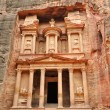 Al Khazneh front view - the treasury of Petra ancient city, Jordan — Foto de Stock
