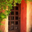 Colorful Provence house entrance door - Foto Stock