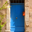 Blue Provence house entrance door — Stock Photo