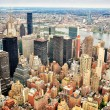 Stock Photo: New York city skyscrapers skyline