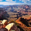 Stock Photo: Grand canyon landscape view with rocks in foreground
