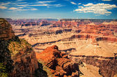 Grand Canyon sunny day with blue sky — Stock Photo