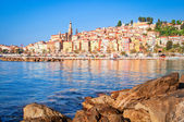 Provence village Menton ocean view — Stock Photo