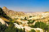 Widok krajobraz kapadocji wieś — Zdjęcie stockowe