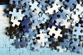 Unfinished puzzle detail — Stock Photo