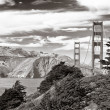 Stock Photo: Golden Gate bridge black and white, SFrancisco