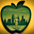 Stock Photo: New York big apple illustration