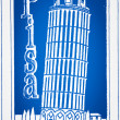 Pisleaning tower illustration — стоковое фото #9005565