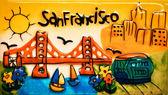 San francisco färgglada keramiska målning — Stockfoto