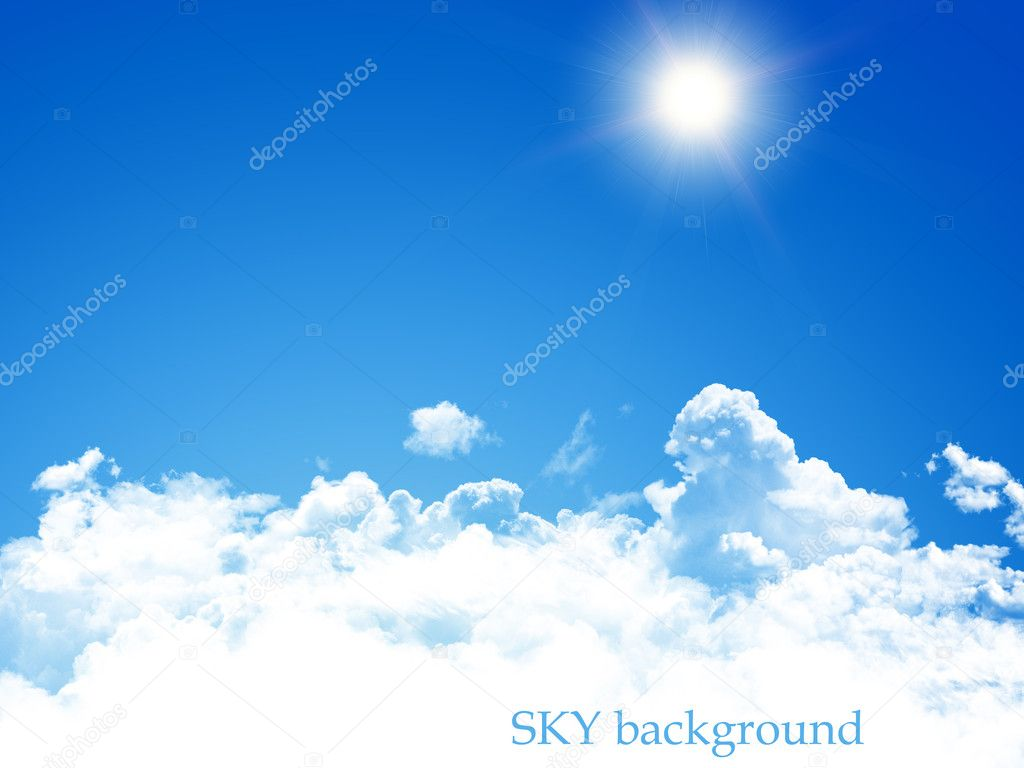 Blue sky background — Photo #10393504