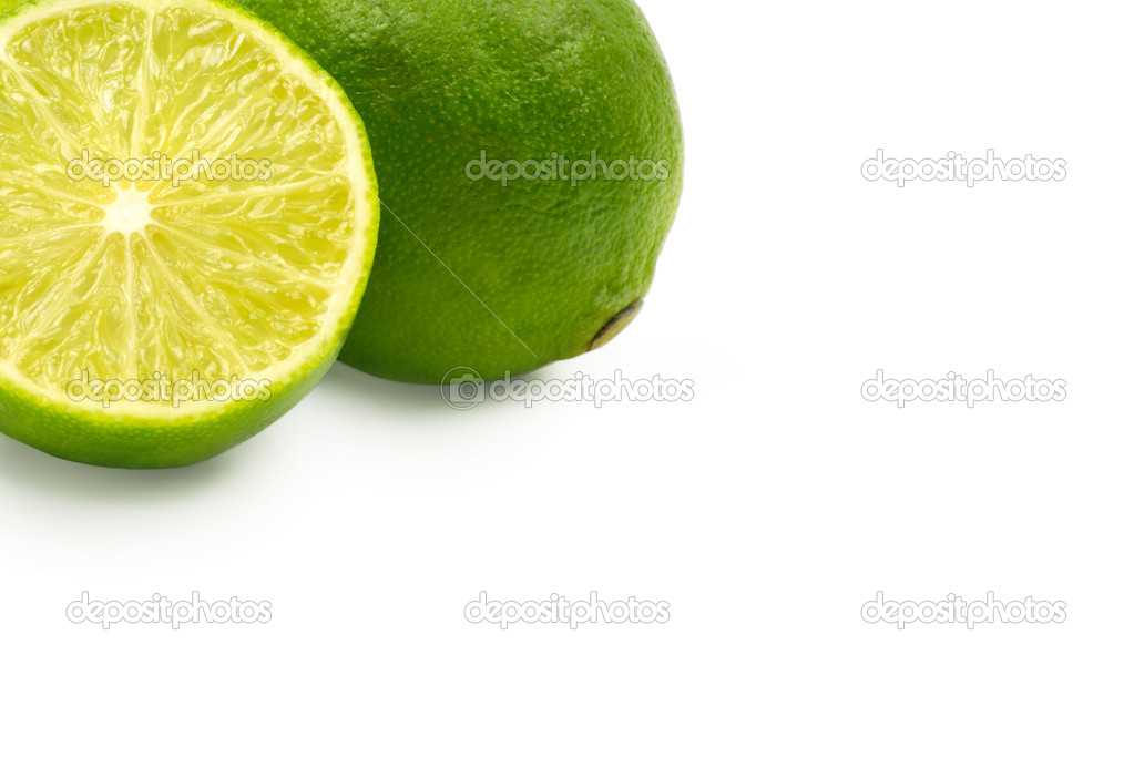 Lime isolated on white background — Stock Photo #8051542