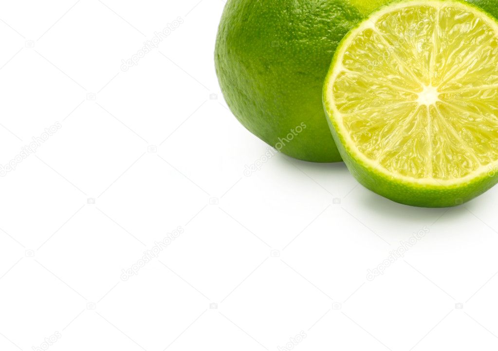 Lime isolated on white background  Stock Photo #8051547