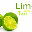 Royalty-Free Stock Photo: Limes isolated on white background