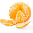 Fresh tangerine isolated on white - Photo