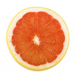Ripe sliced of red grapefruit isolated on white background - Photo