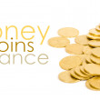 Royalty-Free Stock Photo: Golden coins isolated on white