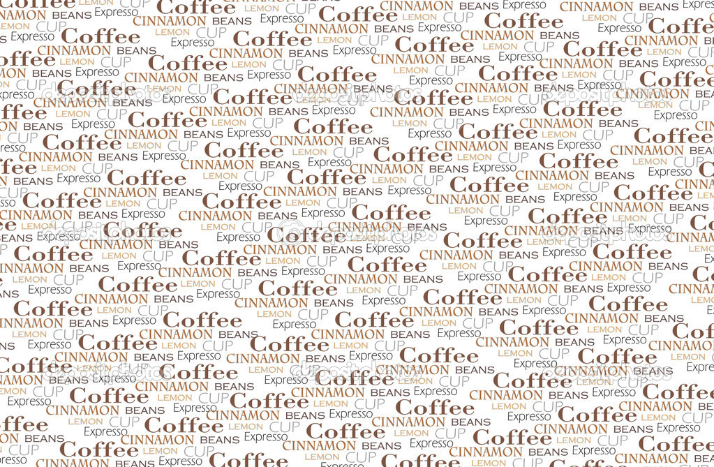 Coffee words background — Stock Photo #9358361