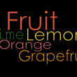 Fruit word background - Photo