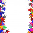 Star shaped confetti of different colors frame - Zdjęcie stockowe