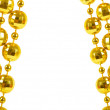 Background made of a brilliant celebratory beads of golden color - Stock fotografie