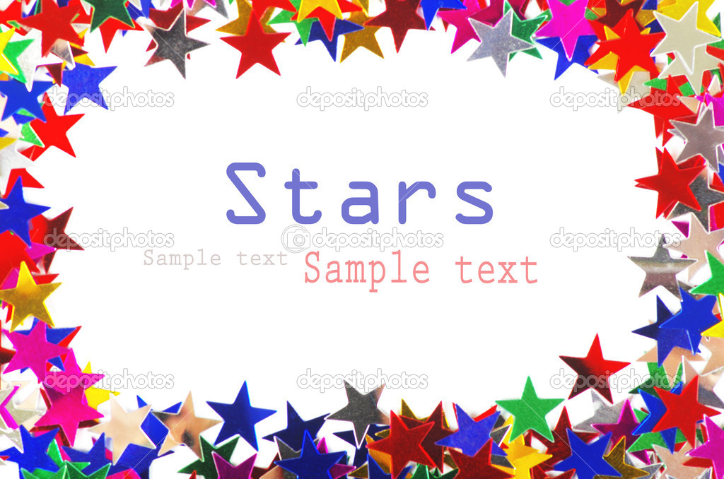 Colored stars background for your text on photo, and other. — 图库照片 #9459146