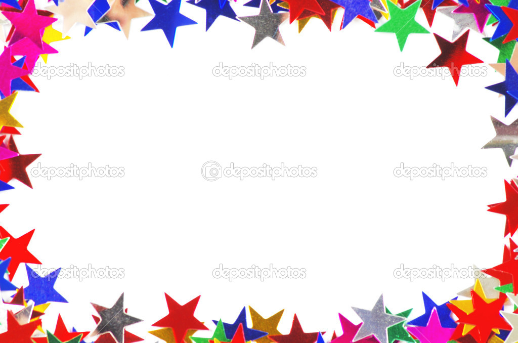 Colored stars background for your text on photo, and other.  Stock Photo #9459186