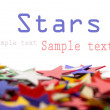 Royalty-Free Stock Photo: Colored stars background