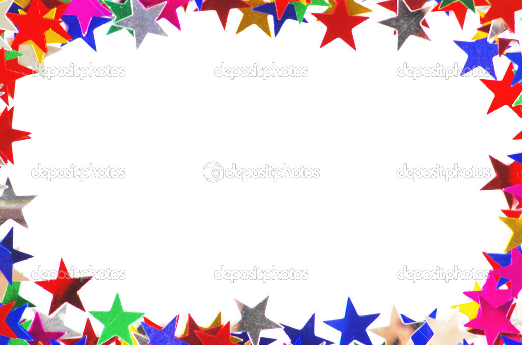 Colored stars background for your text on photo, and other.  Zdjcie stockowe #9514622