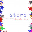 Star shaped confetti of different colors frame - ストック写真
