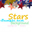 Colored stars background for your text on photo, and other. - Foto Stock