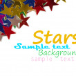Colored stars background for your text on photo, and other. - ストック写真