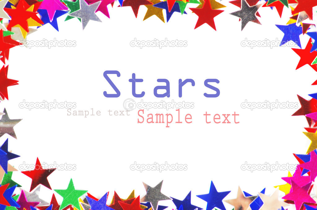 Colored stars background for your text on photo, and other.  Foto Stock #9545127