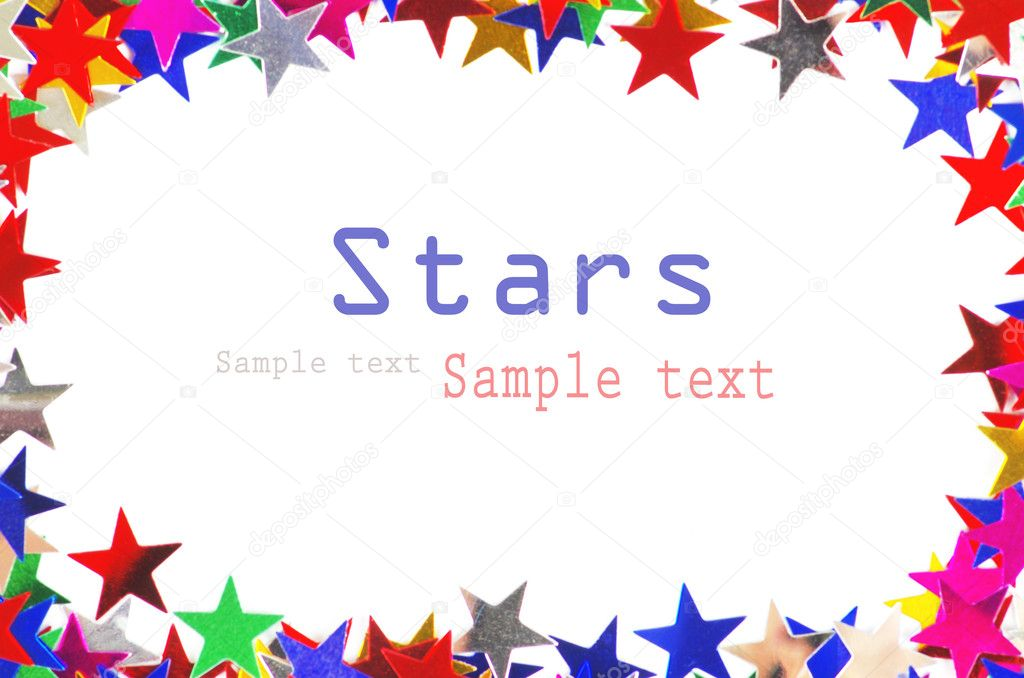Colored stars background for your text on photo, and other.  Stockfoto #9545127