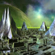 Stock Photo: Fictional City Skyline