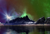 Fantasy Planet with Mystic Background — Stock Photo