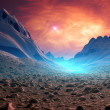 Fantasy Planet with Mystic Background — Foto Stock