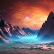 Fantasy Planet with Mystic Background — Stock Photo #10302683