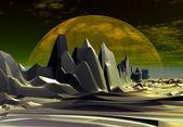 神秘的外星星球 — 图库照片
